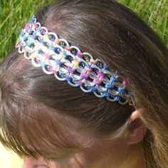 Example of soda tabs headband.