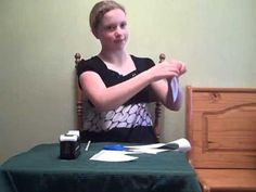"""This YouTube video shows how to do the Fish in a Bowl illusion from """"Who Is God"""""""
