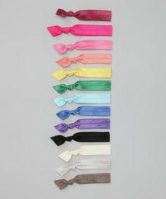 Look what I found on #zulily! Pink & Blue Everyday Mini Hair Tie Set #zulilyfinds