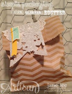 Glimmer Star Banner + Simple Packaging - AWW Jan | Jane Lee http://janeleescards.blogspot.com