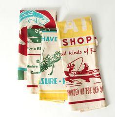 tea towels, cabin kitchens, kitchen towels, lake, dish towels, kitchen remodel, vintage inspired, hand towels, retro kitchens