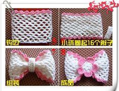 Patrones Crochet: Como hacer un Lazo de Crochet Tutorial