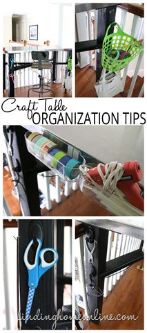 Simple tips for organizing your craft table to make projects neater, quicker and easier.