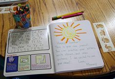 Create summer journals on the first day of summer to keep track of all our fun.