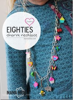 DIY Inspired: Eighties Charm Necklace  (using little erasers)