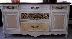 Paint and decoupage buffet