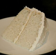 white vegan cake
