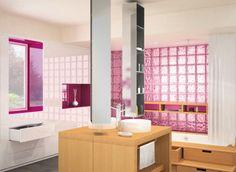 pink glass cubes!