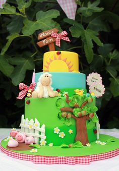 "Photo 1 of 33: Farm/Barnyard / Birthday ""Flowers and Gingham Farm Party"" 