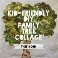 collag art, family trees, famili tree, tree collag, collages