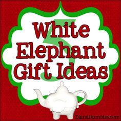 White Elephant Gift Ideas from DianaRambles.com