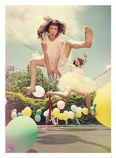 Baloons, girl jumping :).
