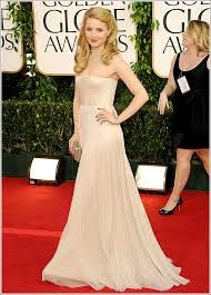 Dianna Agron at the Golden Globes 2011