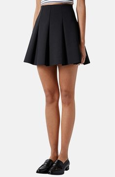 Topshop Pleated Scuba Skirt available at #Nordstrom