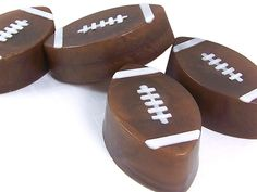 DIY Homemade Football Shaped Soaps for the Sports Fan