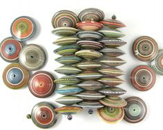 Paper Bead ~ Large Saucer