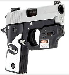 SIG P238 W/Tactical Laser, 380, Custom Aluminum Grips - Impact Guns gun