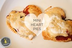 She says they are not a Valentine's treat but I beg to differ! Adorable and Easy Mini Heart Pies.<3