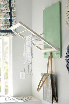 DIY: Laundry Room Drying Rack - Centsational Girl