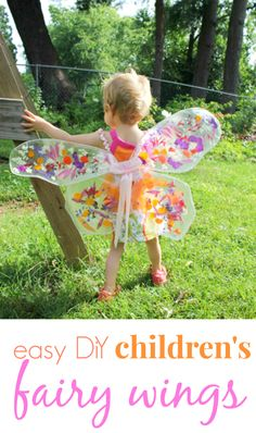 Easy DiY Childrens Fairy Wings from @Jean Van't Hul :: The Artful Parent