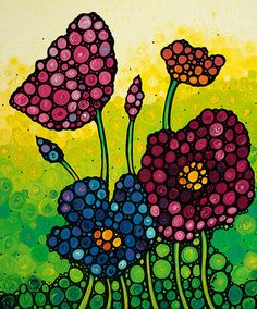 Summer Garden 2 Painting by Sharon Cummings - Summer Garden 2 Fine Art Prints and Posters for Sale