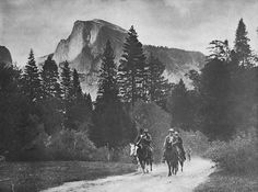 Teddy Roosevelt (riding in Yosemite with John Muir)
