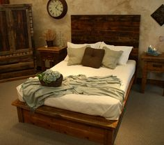 Barn Wood Platform Bed