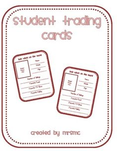 Great back to school activity to do with your students!