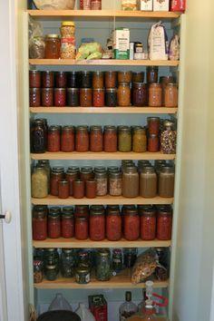 stocked pantry.