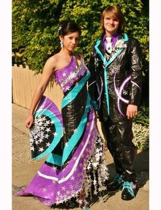 duct tape dresses for school prom... oy yo yoy (click on the photo to see more)