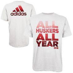 adidas Nebraska Cornhuskers Power T-Shirt - White