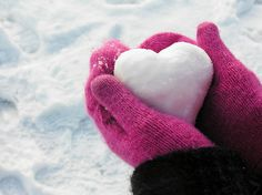 Cold,Cute,Glove,Heart,Pink,Snow - inspiring picture on PicShip.com