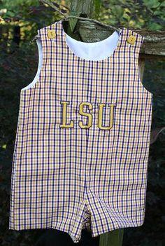 Boy's LSU John John in sizes 1-4. $35.00, via Etsy.