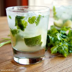 Cilantro Margaritos: Somewhere between a margarita and a mojito, you will find this tasty cocktail!
