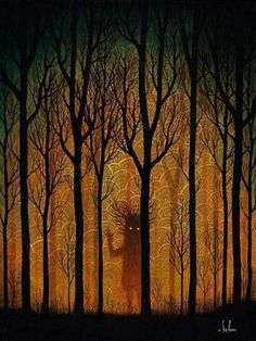 Forest Monsters illustrated by Andy Kehoe Forests, Tall Tales, Artworks, Wood, Quote, Fade Farewell, Andy Kehoe, Trees, Illustration Art