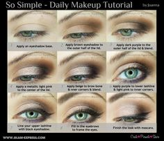 Simple wearable everyday Daily MakeUp Tutorial GlamExpress