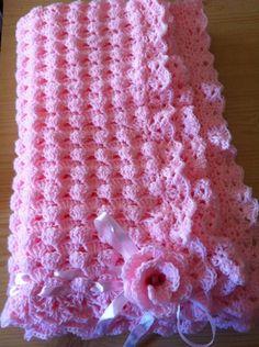 Colchas para bebés tejidas a crochet - Imagui