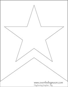 Star  Bunting Template - perfect for 4th of July or anything star-related.