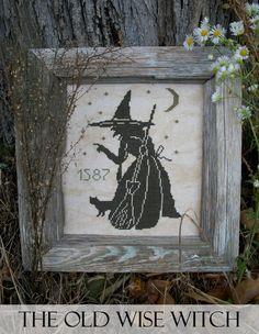The Wise Old Witch - PDF Cross Stitch Pattern. $11.00, via Etsy.