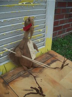 Primitive Thanksgiving Tofu Turkey by Rabbithollowprims on Etsy
