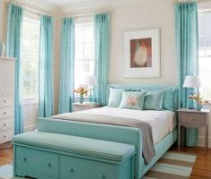 The Blue and White/Gray  DIY Teen Girl Bedroom Decorating Ideas    Decor Ideas for Girls Room