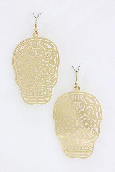 skull earrings $8