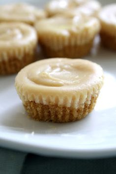 Mini peanut butter cheesecakes.  Yum