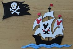 Disney Mickey Pirate SHIP Scrapbook Paper Piecing Pirates of Carribean Pages | eBay