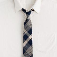 Hartlin-check tie in vintage navy    $59.50