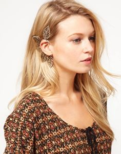 ASOS Filigree Leaf Ear Cuff