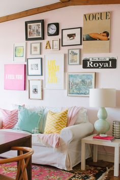 Collage.  View entire slideshow: 25 Pink Rooms that Wow on http://www.stylemepretty.com/collection/365/