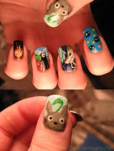 film, hayao miyazaki, studio ghibli, nail art tutorials, howls moving castle, animation, nail designs, nail arts, anime
