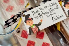 Magician cookie favors