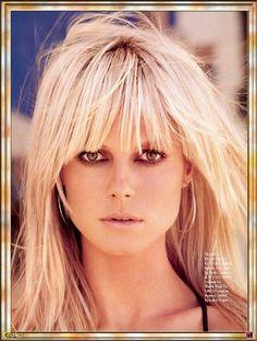 love her hair!!! Heidi Klum.